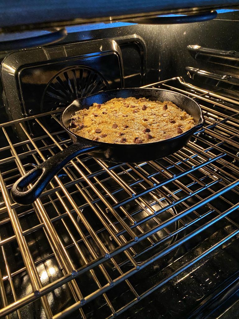 cookie in oven
