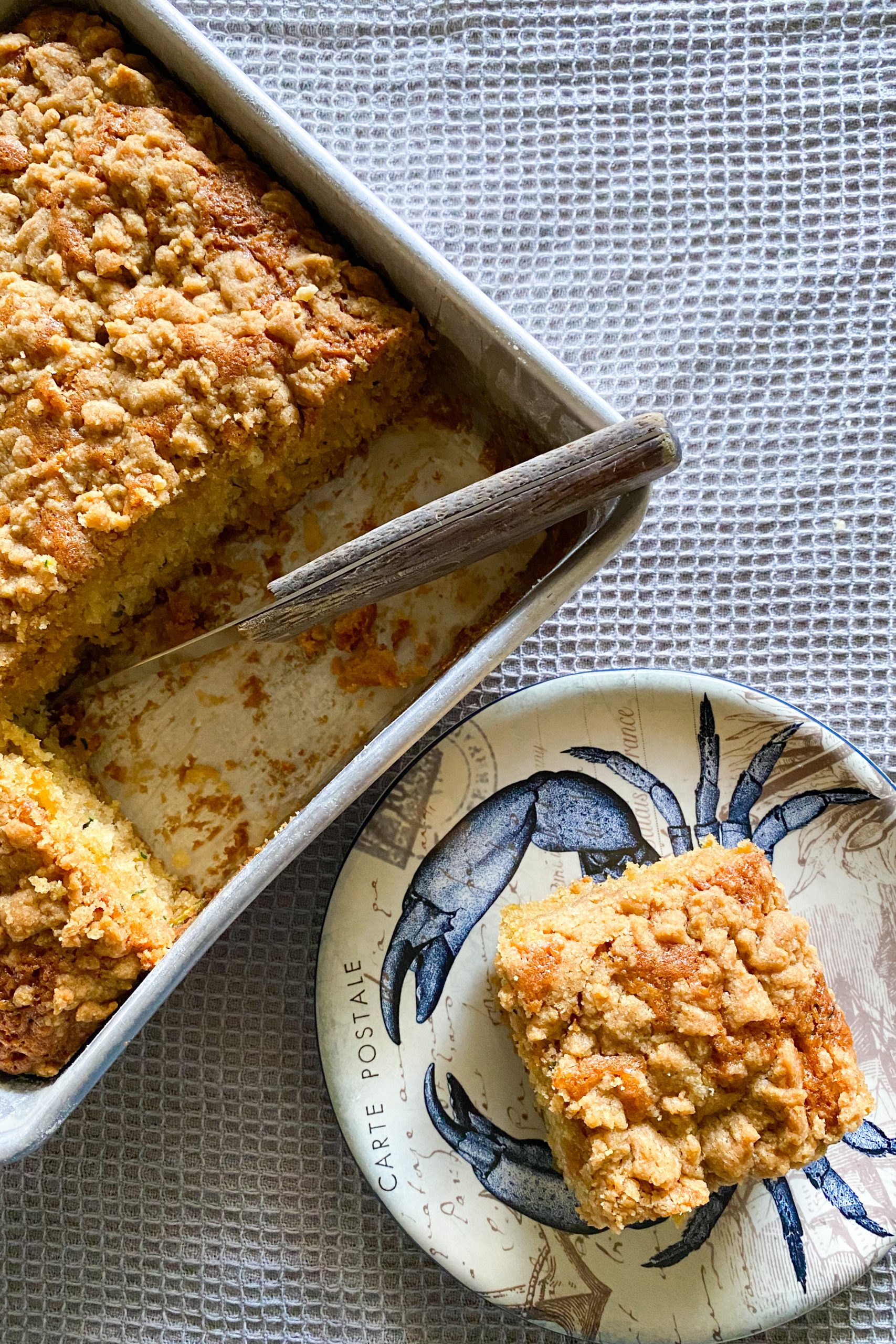 Easy Zucchini Cake With Crumble Topping – No Mixer Needed!