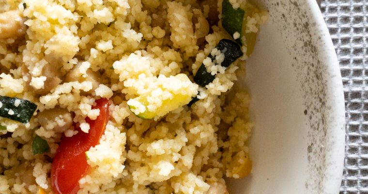 Easy Zucchini Couscous Salad