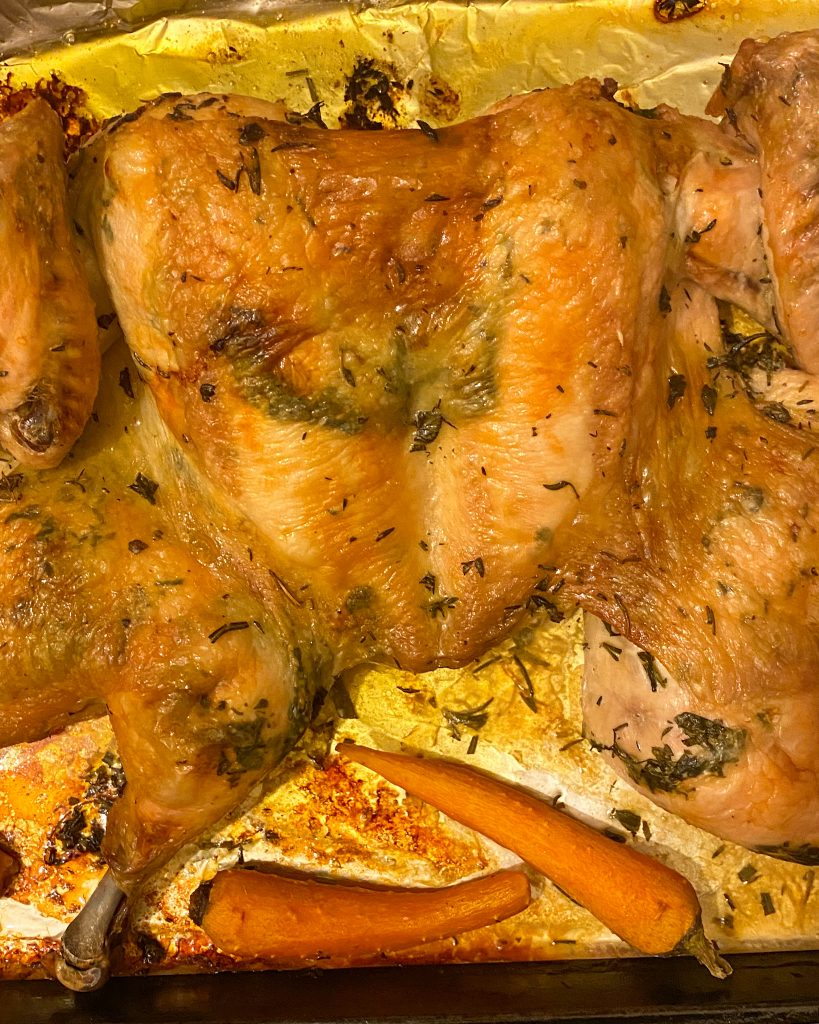 Herbed Spatchcock Chicken