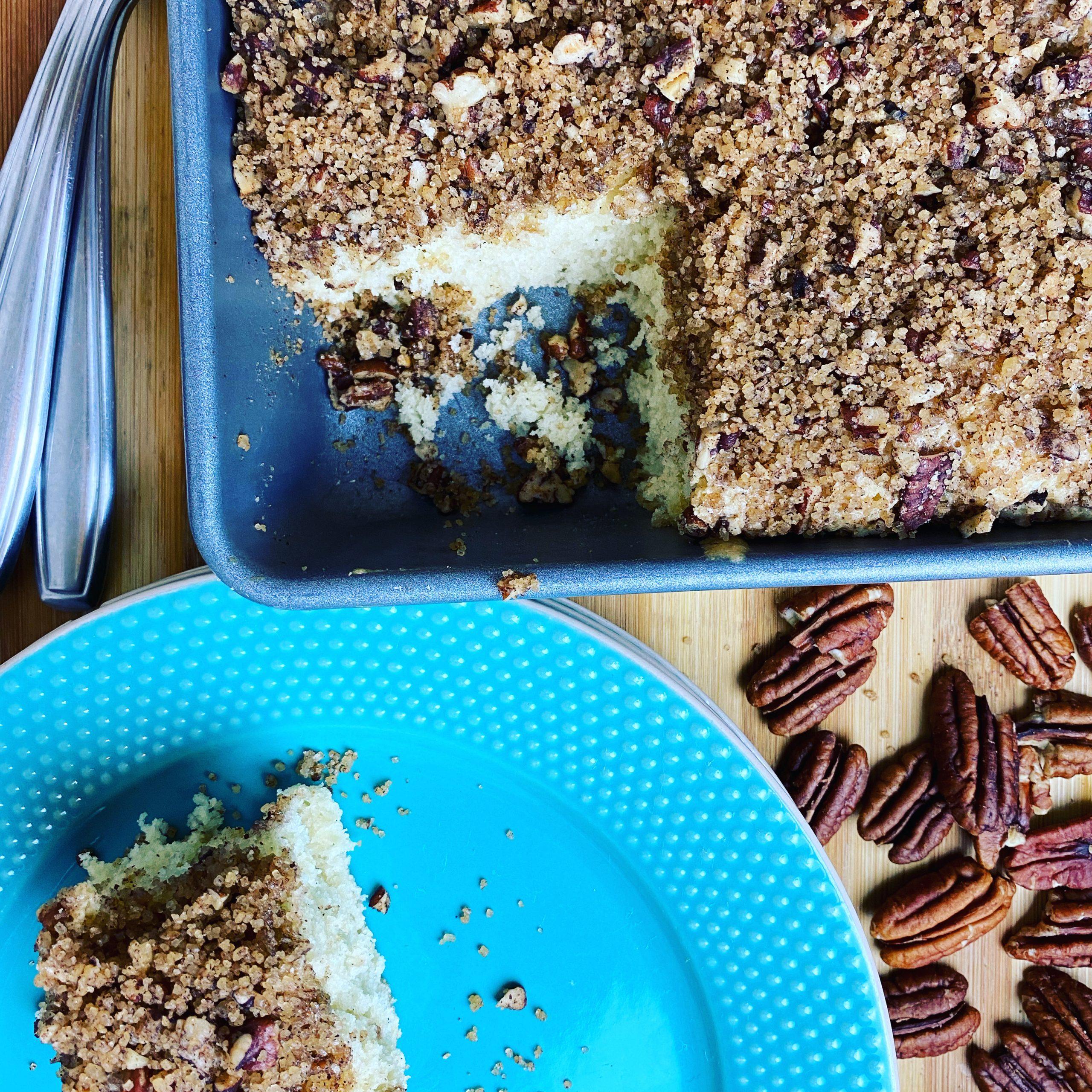 Quick and Easy Coffee Cake – No mixer needed!